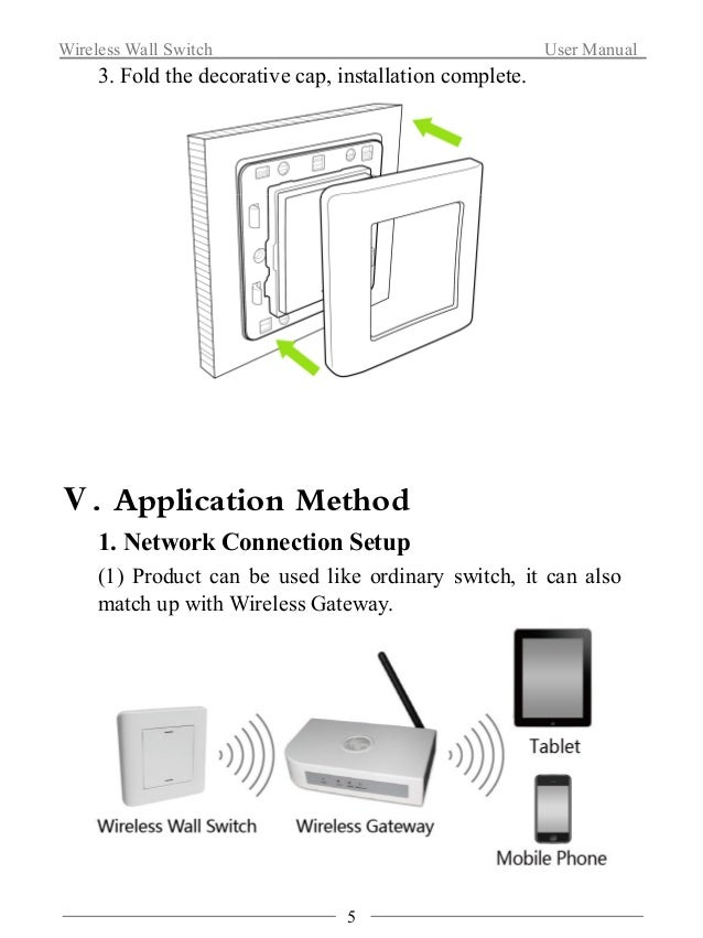 Wireless Wall Switch User Manual  (2) Quick click【UP key】four times(Interval time of each  click should be within 1 second...