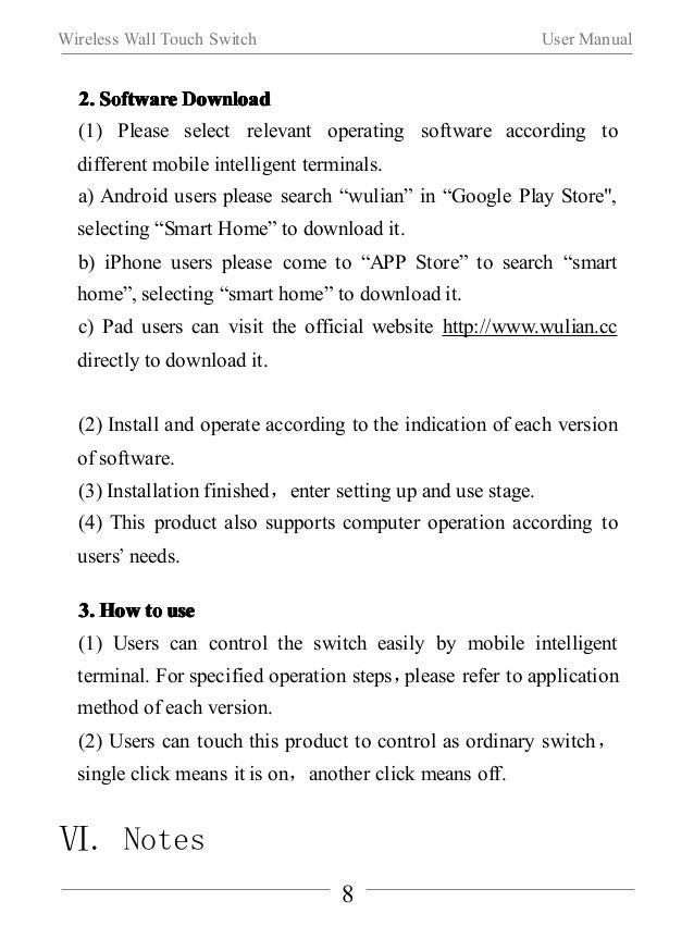 Wireless Wall Touch Switch User Manual  IIIInnnnssssttttaaaallllllllaaaattttiiiioooonnnn  When using the product for the f...