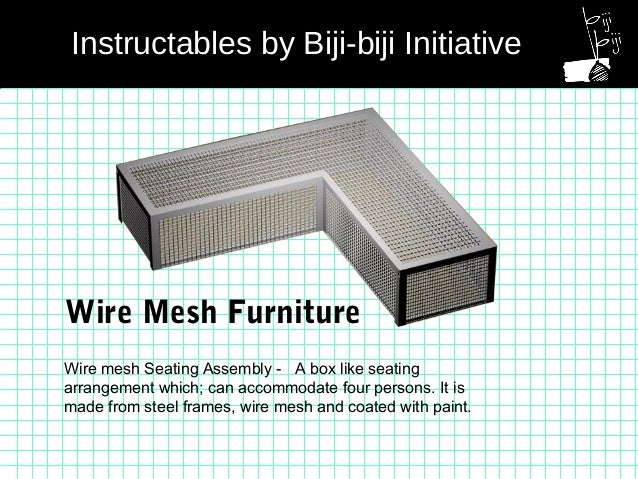 Wire Mesh Seating Assembly   A Box Like Seating Arrangement Which; Can  Accommodate Four Persons ...