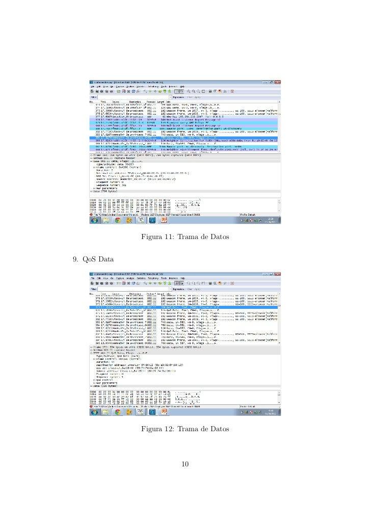 Captura de la trama Mac 802.11