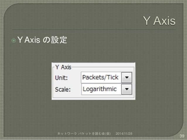 Y Axis の設定  ネットワークパケットを読む会(仮) 2014/11/28  39