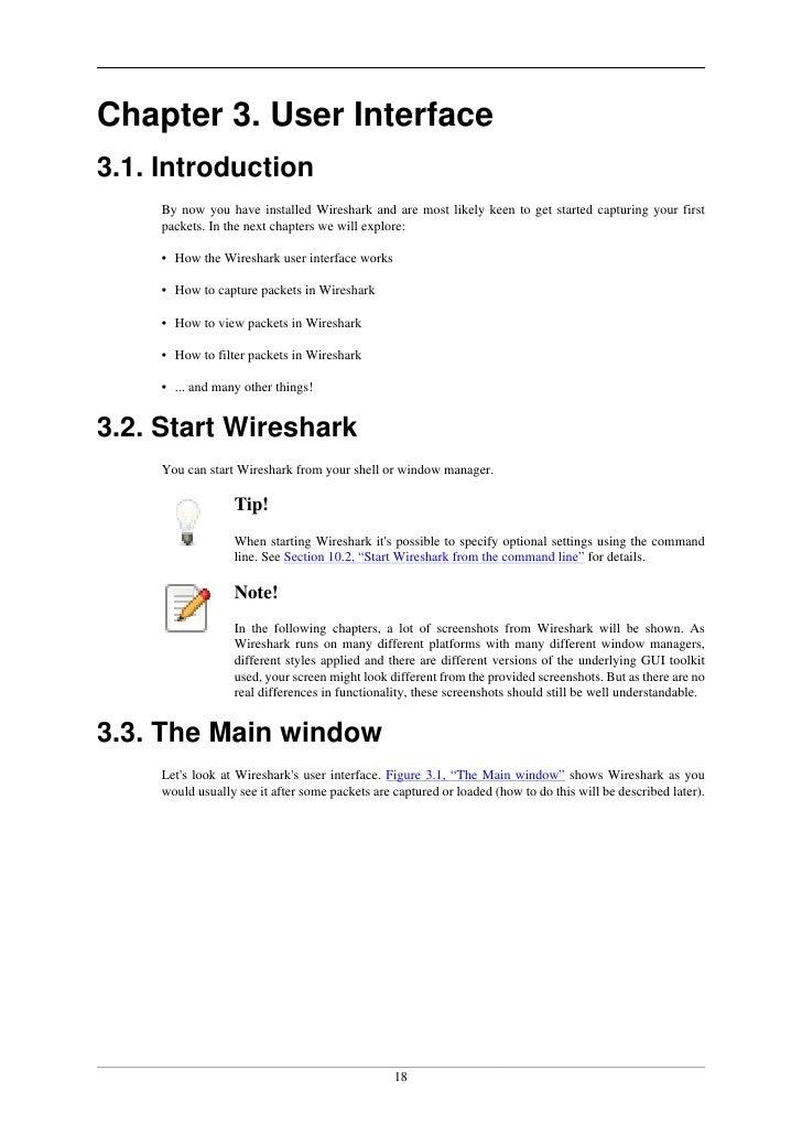 Wireshark user's guide