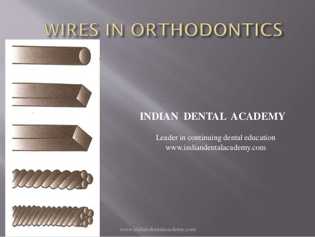 Wires In Orthodontics