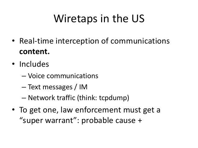 Analysis of wiretap stats  Slide 3