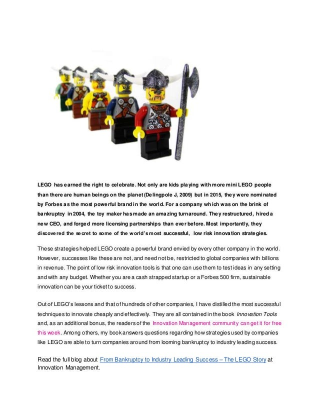 From Bankruptcy to Industry Leading Success – The LEGO Story