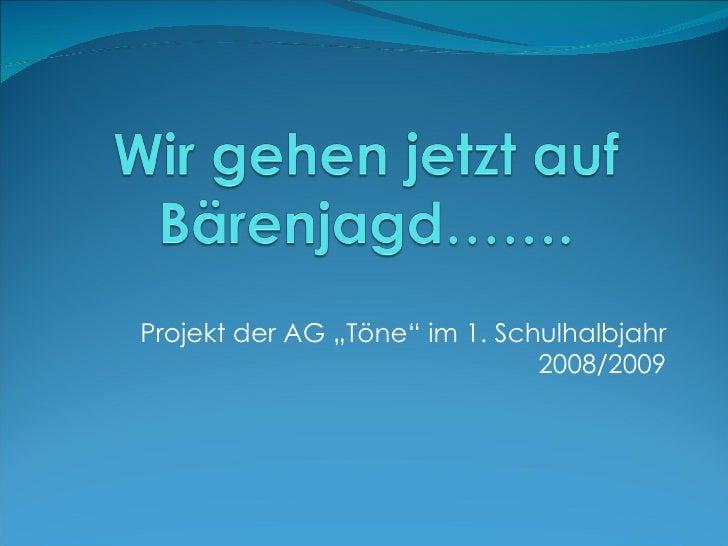 """Projekt der AG """"Töne"""" im 1. Schulhalbjahr 2008/2009"""