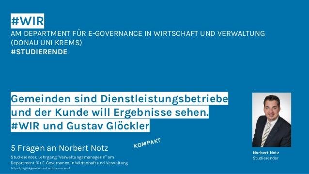 #WIR AM DEPARTMENT FÜR E-GOVERNANCE IN WIRTSCHAFT UND VERWALTUNG (DONAU UNI KREMS) #STUDIERENDE Gemeinden sind Dienstleist...