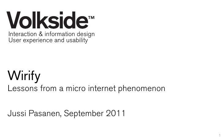 VolksideInteraction & information design,  Interaction and information design  User experience and usabilityUser experienc...