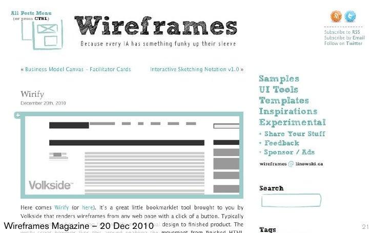 Wireframes Magazine – 20 Dec 2010   21