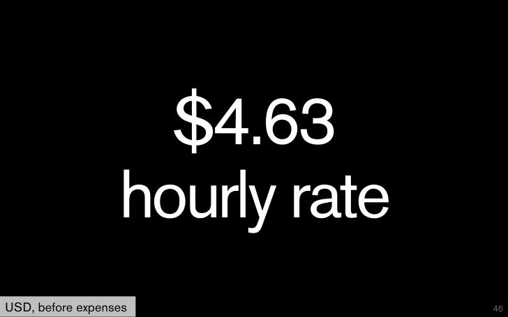 $4.63                  hourly rateUSD, before expenses            46