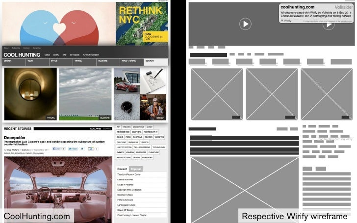 CoolHunting.com   Respective Wirify wireframe 9