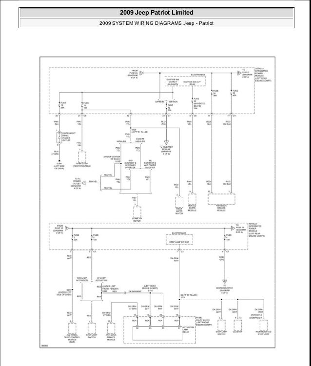 2009 jeep patriot wiring diagram  jeep  auto parts catalog