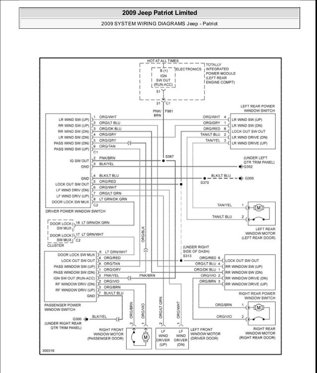 2013 jeep patriot fuse box diagram repair manual 2012 Jeep Patriot Stereo Wiring Diagram