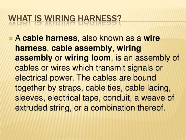 Define Wiring Harness - Trusted Wiring Diagram •