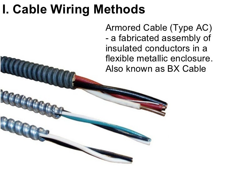 wiring methods switches part 1 rh slideshare net types of writing methods different types of wiring methods approved in the philippine condition