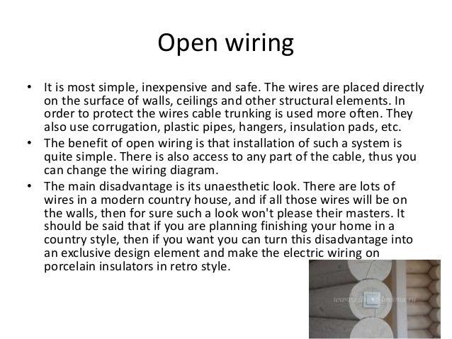 wiring system rh slideshare net open wiring system for house