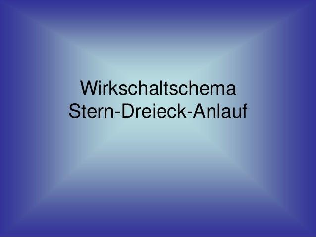 Wirkschaltschema Stern-Dreieck-Anlauf