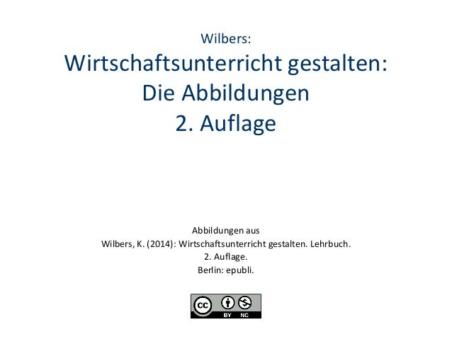 Wilbers:  Wirtschaftsunterricht gestalten: Die Abbildungen 2. Auflage  Abbildungen aus Wilbers, K. (2014): Wirtschaftsunte...