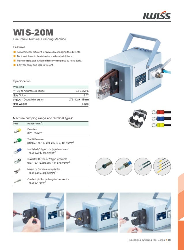 Iwiss Pneumatic Crimper and Electrical Crimping Tools for various of …