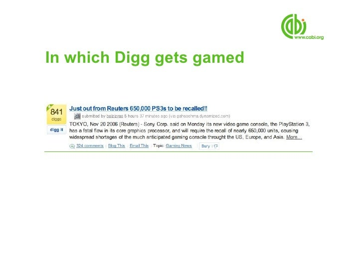 In which Digg gets gamed