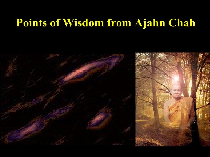 Points of Wisdom from Ajahn Chah