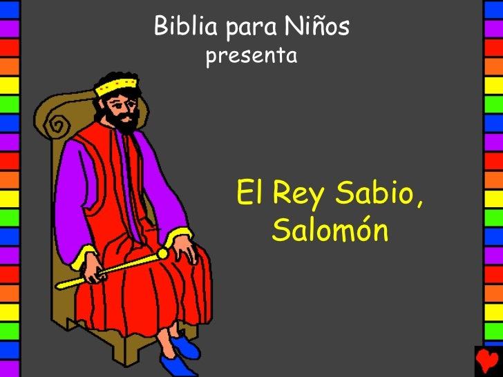 Manualidad El Rey Salomon: Wise King Solomon Spanish Pda