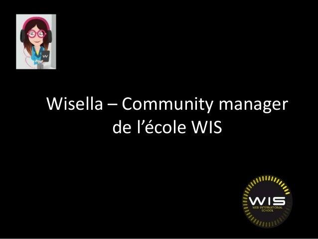 Wisella – Community manager de l'école WIS