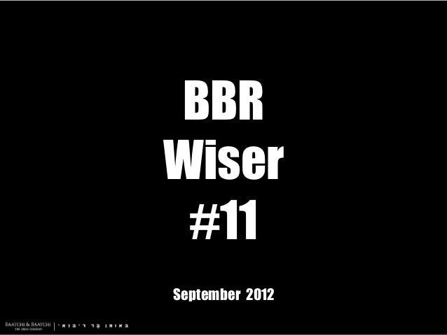 BBRWiser #11September 2012