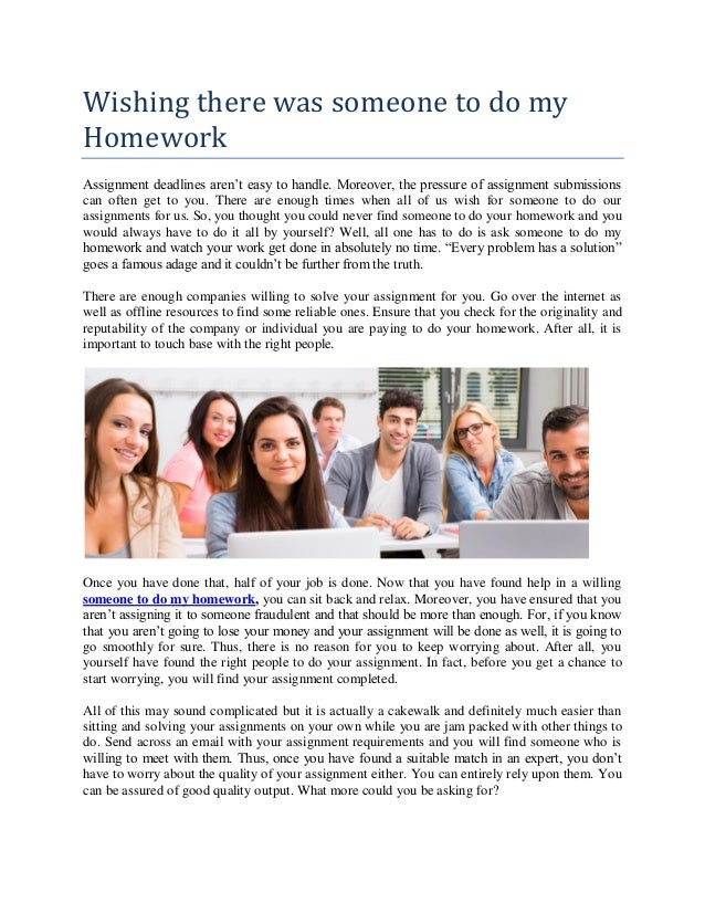 Where can i find someone to do my homework - Small Business SEO