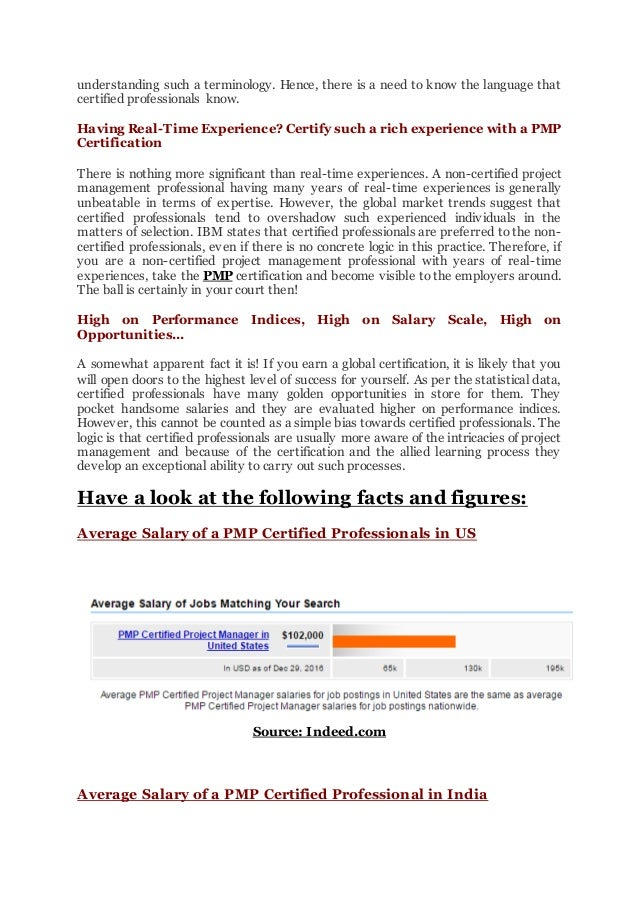 Wish To Know Value Of Pmp Certification