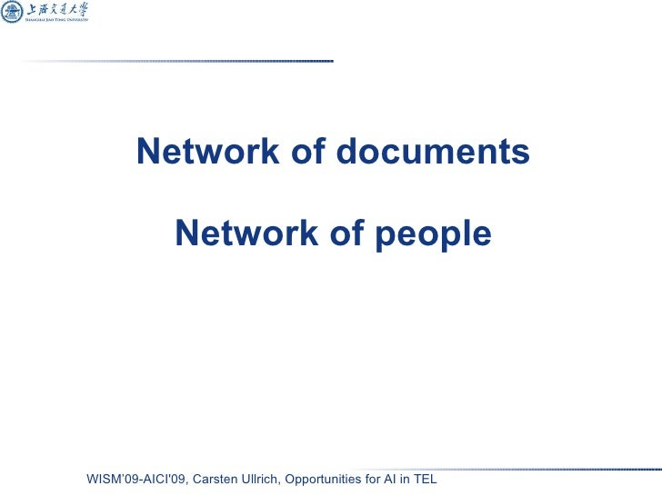 Network of documents Network of people