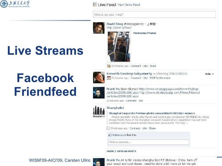 Live Streams Facebook Friendfeed