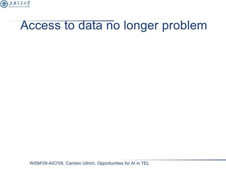 Access to data no longer problem