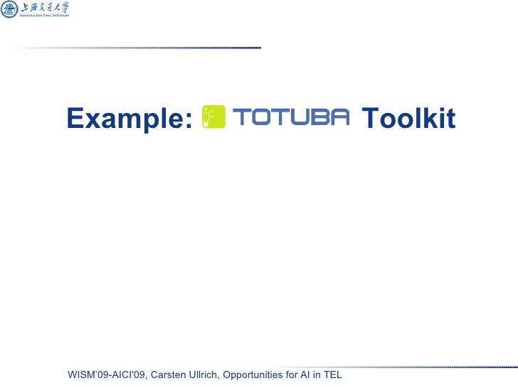 Example: Totuba  Toolkit