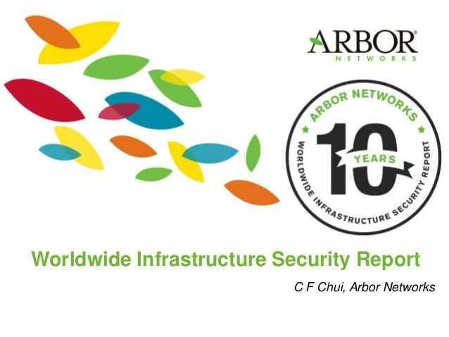 Worldwide Infrastructure Security Report C F Chui, Arbor Networks