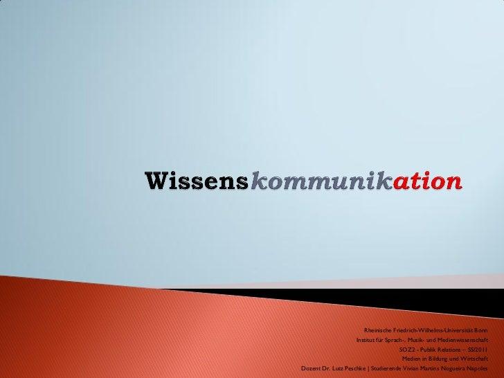 Rheinische Friedrich-Wilhelms-Universität Bonn                    Institut für Sprach-, Musik- und Medienwissenschaft     ...