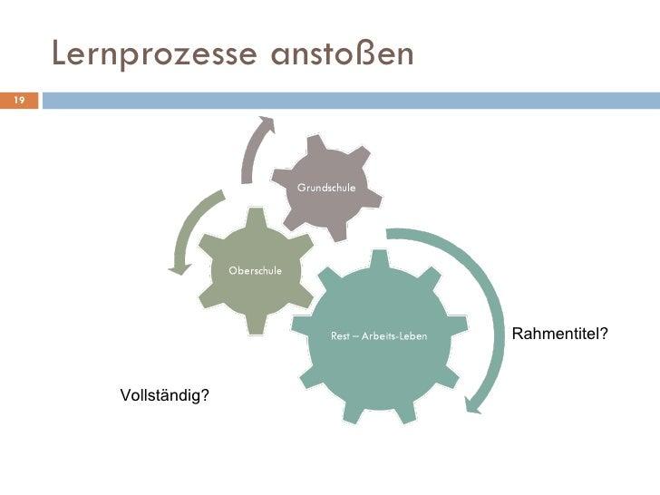 Lernprozesse anstoßen Rahmentitel? Vollständig?