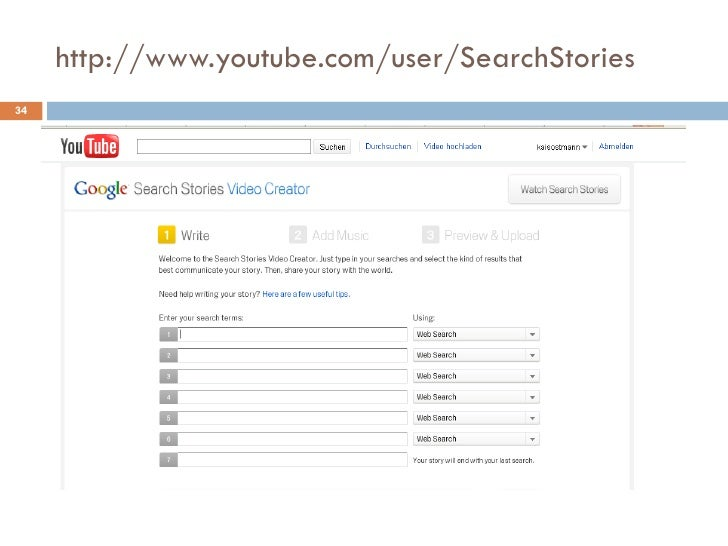 http://www.youtube.com/user/SearchStories