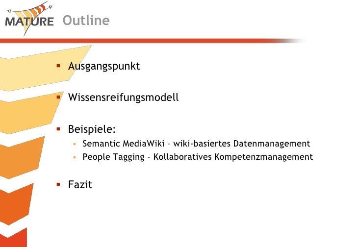 Wissensreifung - neue Perspektiven für das Informationsmanagement Slide 2