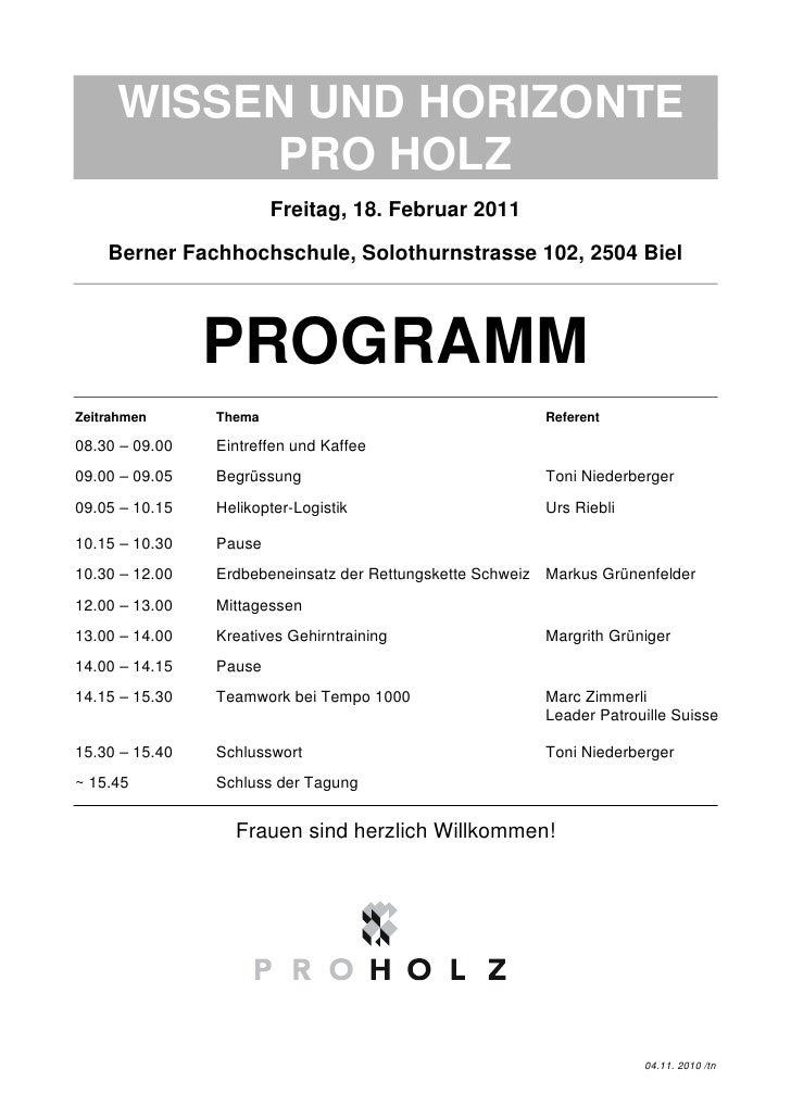 Wissen und horizonte 2011