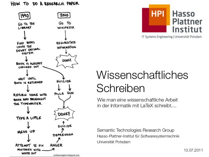 WissenschaftlichesSchreibenWie man eine wissenschaftliche Arbeitin der Informatik mit LaTeX schreibt....Semantic Technolog...