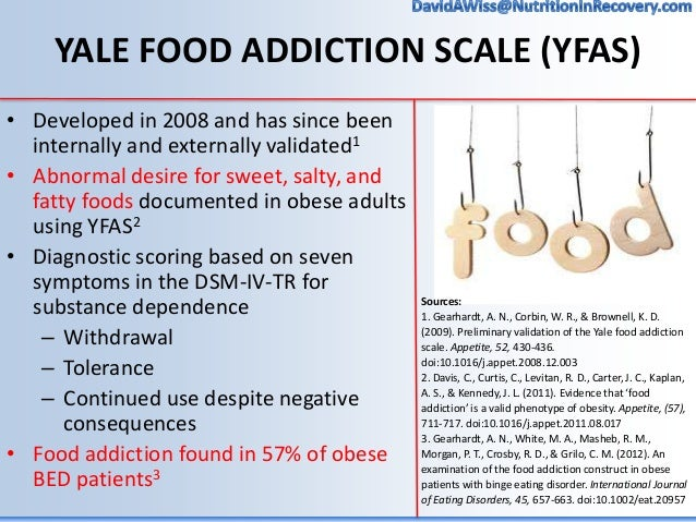 Image result for yale food addiction scale