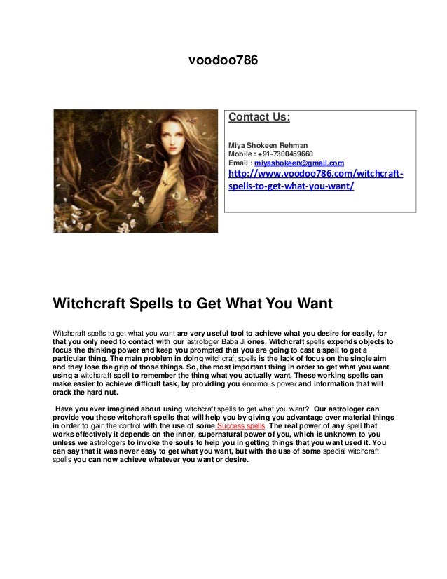 Witchcraft spells to get what you want -- +91-7300459660