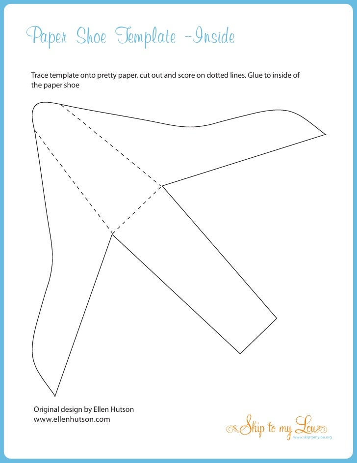 Witchshoeinside paper shoe template inside trace template onto pretty paper cut out and score maxwellsz