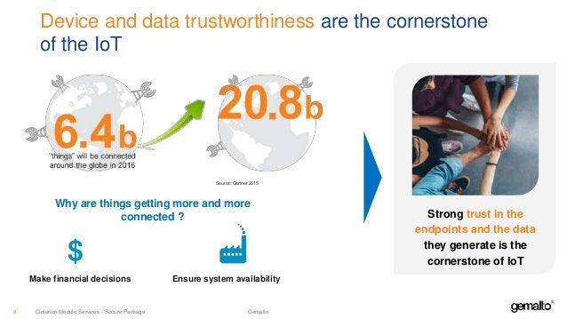 Device and data trustworthiness are the cornerstone of the IoT Source: Gartner 2015 Why are things getting more and more c...
