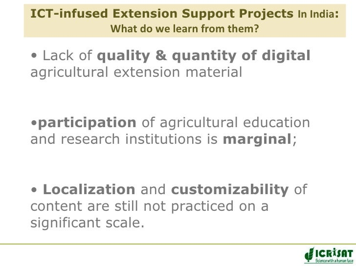 Mobile Applications for Agriculture and Rural Development