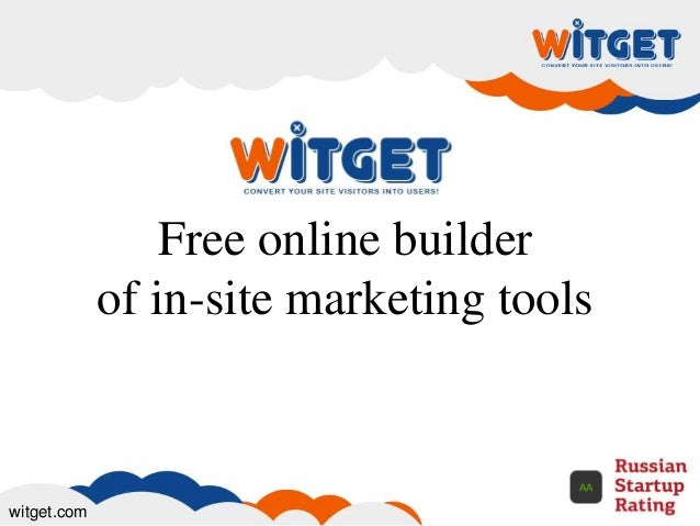 Free online builder of in-site marketing tools witget.com
