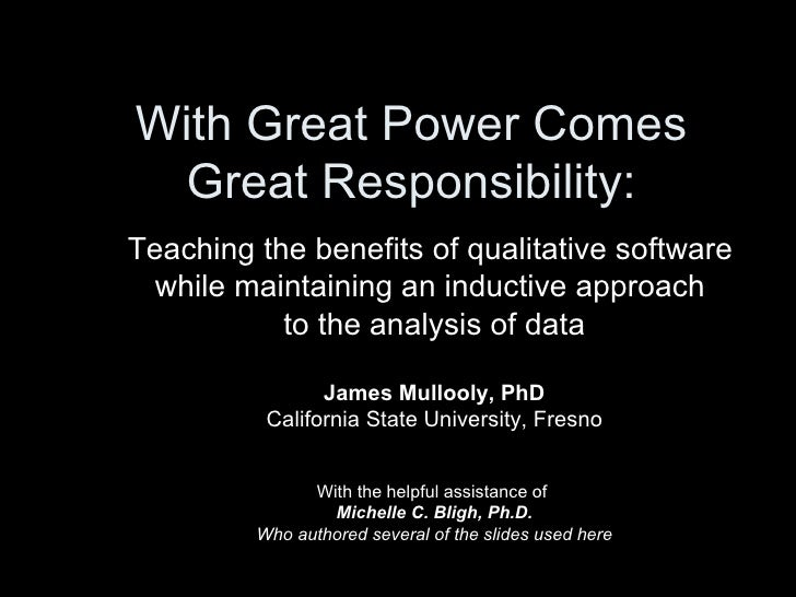 With Great Power Comes Great Responsibility: Teaching the benefits of qualitative software  while maintaining an inductive...