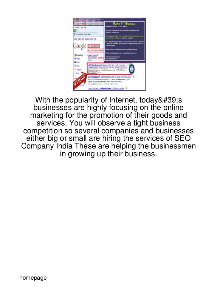 With the popularity of Internet, today's   businesses are highly focusing on the online  marketing for the promotion of th...