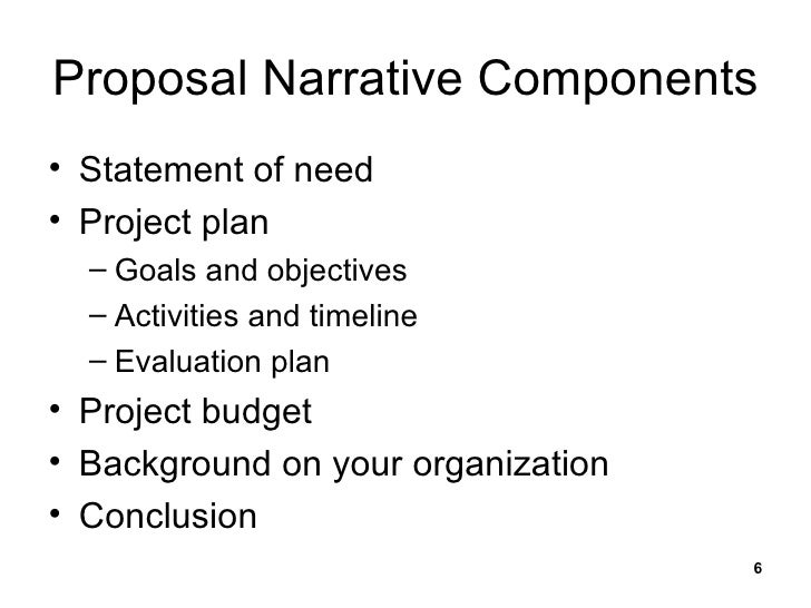 Writing An Effective Grant Proposal
